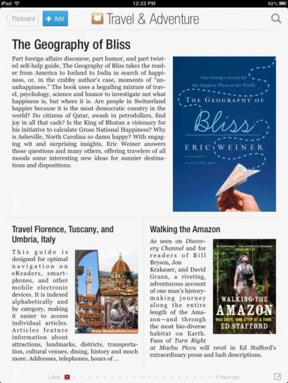 Flipboard iBooks screenshot 001 410x546 Apple e Flipboard insieme per gli ebooks Flipboard App Store
