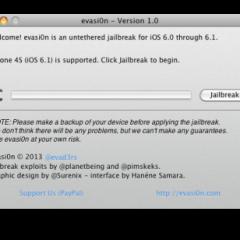 Tutorial: Jailbreak per iOS 6.0/6.1 con evasi0n