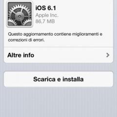 Apple: rilasciato firmware 6.1 al pubblico
