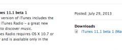 iTunes 11.1 beta, ora con iRadio
