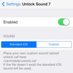 UnlockSound7 riporta il vecchio suono di sblocco su iOS