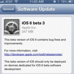 Apple: disponibile la beta 3 di iOS 6