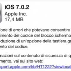 Disponibile iOS 7.0.2