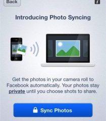 Photo Sync: in arrivo la sincronizzazione automatiche da iPhone a Facebook