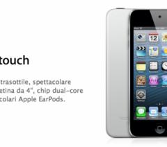 Apple aggiunge un nuovo iPod touch (da 16GB e senza fotocamera posteriore) a 249€