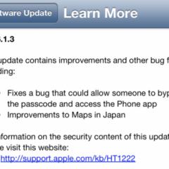 Apple ha rilasciato iOS 6.1.3. Corretta la vulnerabilità della lockscreen