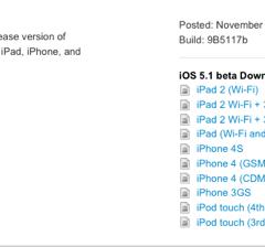 Apple rilascia iOS 5.1 beta 1 agli sviluppatori