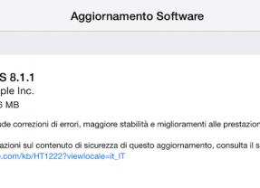 Disponibile iOS 8.1.1: miglioramenti nelle prestazione di iPhone 4S e iPad 2