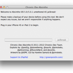 Il jailbreak per iPhone 4S e iPad 2 ha un nome: ecco a voi Absinthe (download)