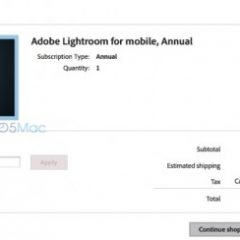 Adobe Lightroom mobile a 99$ all'anno ?